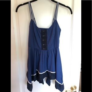 Anthropologie Odille Blue Tank Top Blouse 00